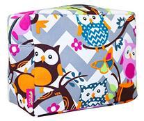 NGIL Cosmetic Pouch, Owl Chevron Print