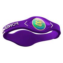 Power Balance White Logo Silicone Wristband Small Purple