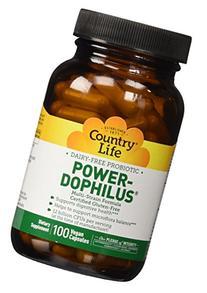 Country Life Power-Dophilus  Vegetarian Capsule, 100-