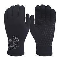 TrailHeads Women's Power Stretch Running Gloves - black