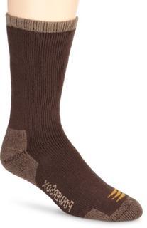 Gold Toe Men's 2-Pk Powersox Heavy Cushion Socks, Bark, 10-