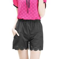 Pregnant Ladies Elastic Hollow Out Pockets Short Trousers