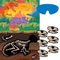 Amscan Dashing Prehistoric/Dinosaur Party Game Kit Birthday