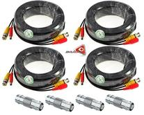 ACELEVEL 4 PACK PREMIUM 100Ft.THICK BNC EXTENSION CABLES FOR