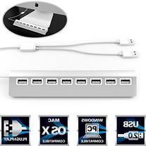 Sabrent Premium Bus-powered 8 Port Aluminum USB 2.0 Hub  for