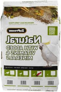 ZuPreemNatural Premium Bird Diet for Cockatiels with added
