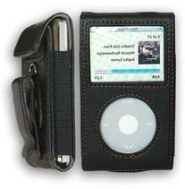 CrazyOnDigital Premium Black Leather Case Apple iPod Video/