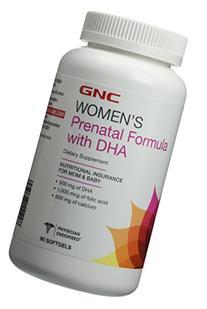 GNC Women's Prenatal Formula with DHA 90 Softgels