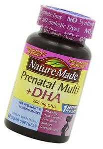 Nature Made Prenatal plus DHA Softgels, 60 Count