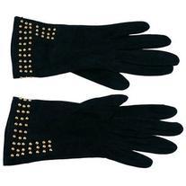 Preowned Bottega Veneta Studded Suede Gloves