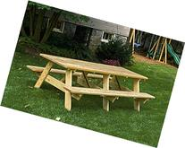 8 Ft Pressure Treated Pine Unfinished Picnic Table with