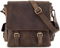 LEABAGS Preston genuine buffalo leather messenger bag in
