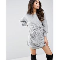 PrettyLittleThing Ruched Front Sweater Dress