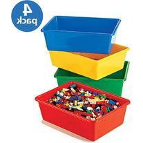 Tot Tutors - Primary Colors Large Storage Bins, Set of 4