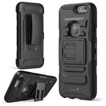 Prime Dual Layer Holster Case with Kick Stand for Apple