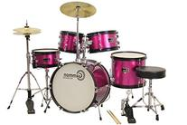Princess Pink Drum Set with Cymbals Stool Stands Sticks
