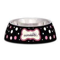 Loving Pets Princess Polka Dot Milano Bowl for Dogs and Cats