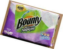 Bounty Print Napkins 600 Count