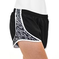 Soffe Juniors Print Shorty Short, Zebra, Large