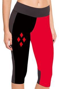 COCOLEGGINGS Womens Harley Quinn Digital Print Stretch