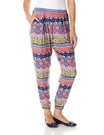 Glamorous Women's Printed Pant, Blue/Multi Bright Aztec, X-