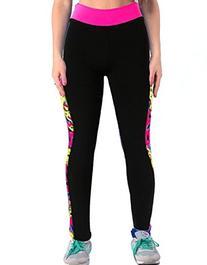 ABUSA Women's Printed Workout Capri Yoga Pants Stretch Tight