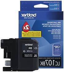 Brother Printer LC107BK Super High Yield Cartridge Ink,
