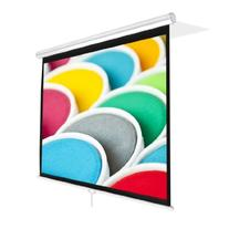 Pyle PRJSM9406 Universal 84-Inch Roll-Down Pull-Down Manual Projection Screen  Matte White