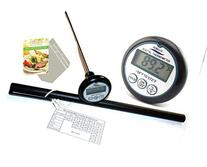 Robelle 8-Inch Probe Digital Cooking Meat Thermometer with 2