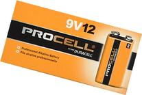 Duracell Procell 9 Volt Batteries, Pack of 24