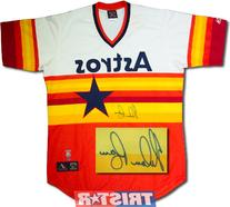 Tristar Productions I0004078 Nolan Ryan Autographed Houston Astros Rainbow Jersey by Majestic