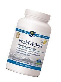 Nordic Naturals ProEFA 1000 mg Soft-Gels, Lemon Flavor, 180