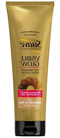 Suave Professionals Visible Glow Self Tanning Body Lotion,