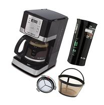 Mr. Coffee Programmable Coffee Maker and Bonus Grinder, 12