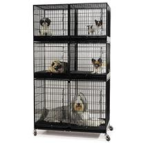 ProSelect Modular X-Tall 3 Tier Cage Bank Kit, Black
