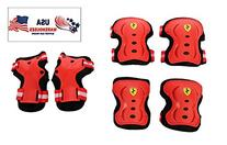 Ferrari Protector Set For Teenager & Kids Kneepad Elbowpad