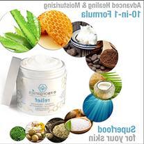 Psoriasis & Eczema Cream 4oz Advanced Healing Non-Greasy