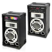 Pyle PSUFM625 Disco Jam 600 Watt 2-Way PA Speaker System, SD