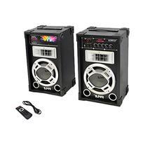 Pyle PSUFM835A 800 Watt 2-Way Speaker Systems, USB/SD Card