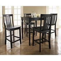 Crosley 5 Piece Pub Dining Set with Turned Leg and School