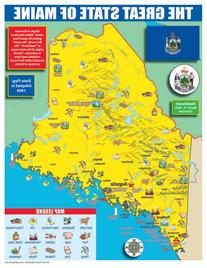 Gallopade Publishing Group Maine State Map for Students -