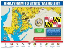 Gallopade Publishing Group Maryland State Map for Students