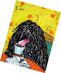 Puli at the Cafe Coffee Shop signed dog art print