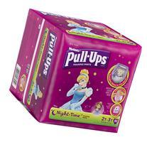 HUGGIES Pull-Ups Girls' Night-Time Training Pants, Big Pak