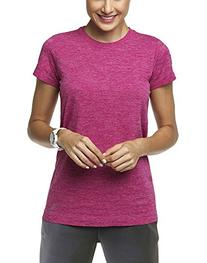 Lupo Women's Pulse Short Sleeve Sports Tee, Medium, Dark