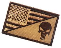 WZT Punisher American Flag Patch Military Patch / Velcro