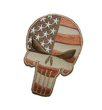 Punisher Skull USA Flag Tactical US Army ISAF Desert Hero