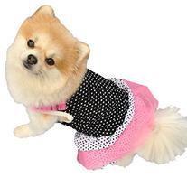 Mosunx Fashion Puppy Dog Princess Dress Dog Dot Skirt Pet