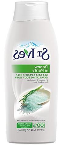 St. Ives Renew & Purify Body Wash, Sea Salt and Kelp 24 oz