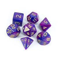Paladin Roleplaying Purple And Blue 'Enchantress' Dice Set